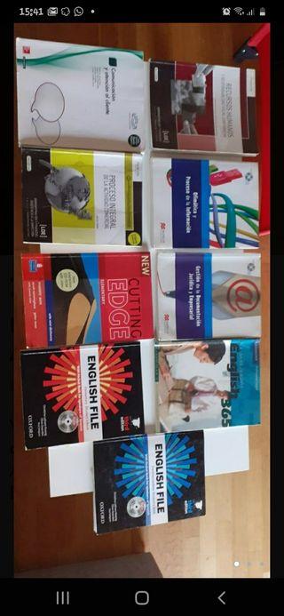 Libros administración y finanzas y EOI Inglés