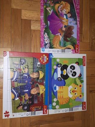 3 puzzles para niños de 3 años