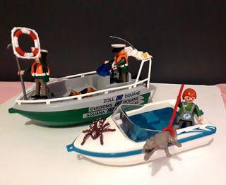 Playmobil barca policía y lancha
