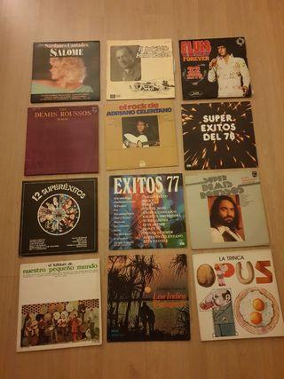 Lote discos vinilo años 70