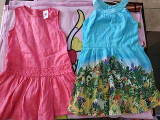 2 vestidos Talla 3 años - 4 años