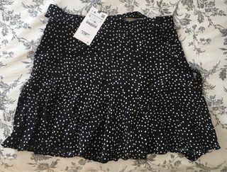 Falda lunares Zara Nueva