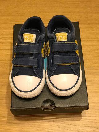 Zapatillas PATRICIA CONVERSE T.24 niño azul