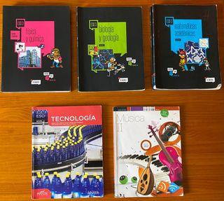 Lote libros de texto tercero de ESO