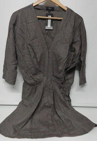 Vestido manga 3/4 marron medio Hakei talla L