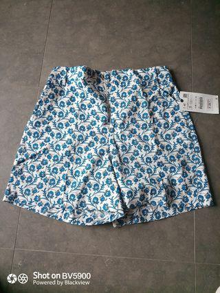 pantalón corto shorts Zara S con etiqueta