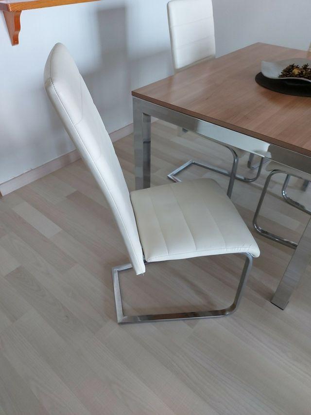 Juego 4 sillas salón comedor