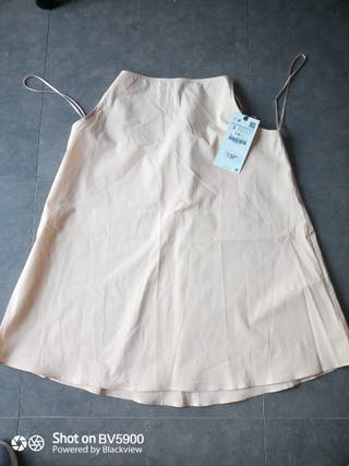 combinación forro vestido Zara S con etiqueta