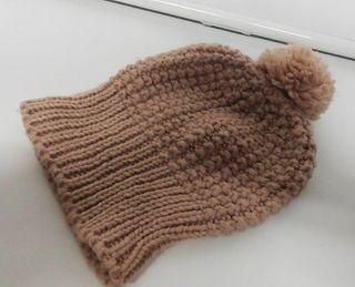 Gorro lana rosa c/pompon Accesories nunca usado