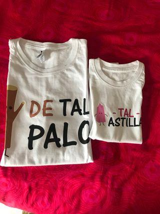 Camiseta para madre o padre e hija