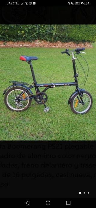 bicicletas plegables boomerang