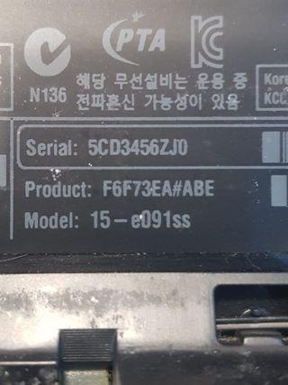 Portatil Gaming HP Core i7 8 GB RAM