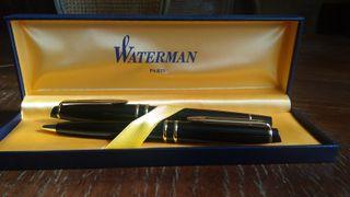pluma + bolígrafo Waterman