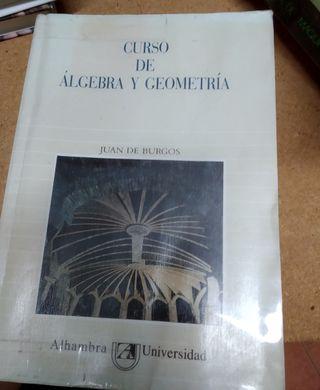 CURSO DE ÁLGEBRA Y GEOMETRÍA