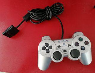 MANDO SONY PLAYSTATION 2 PS2 PLATEADO ORIGINAL