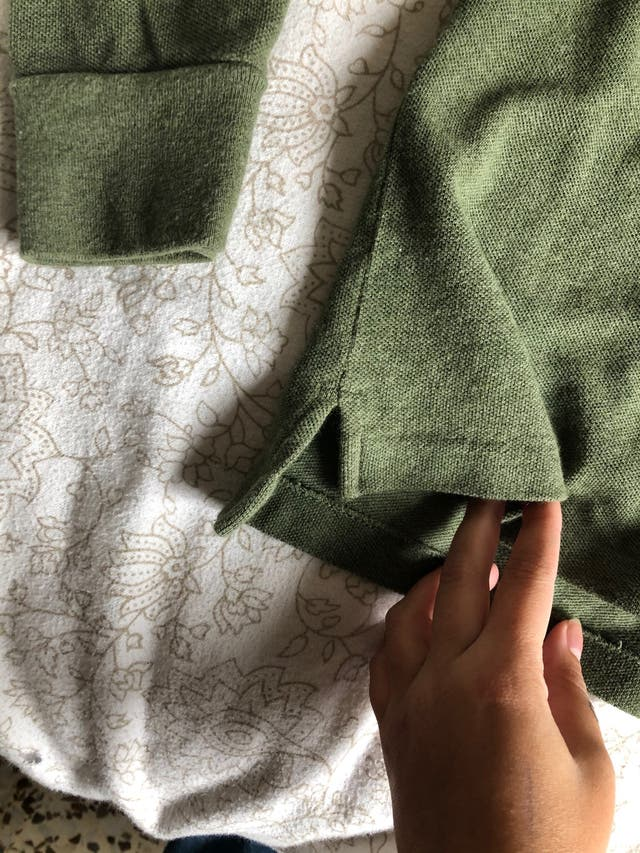 Polo verde manga larga Ralph Lauren
