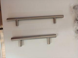 Tiradores de metal para armario