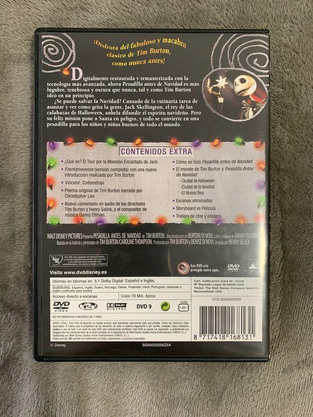 DVD Pesadilla Antes De Navidad