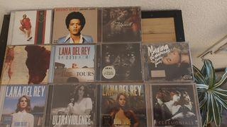 pack Cds Música. Lana del Rey, Bruno Mars, Seal y+