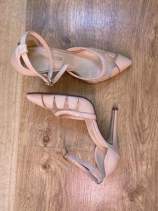 Zapatos tacón rosa T37
