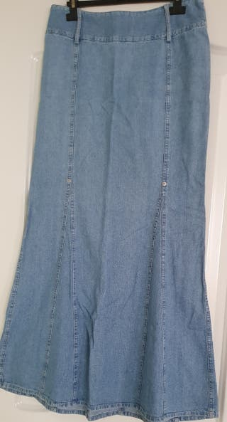Falda jeans midi de Mango