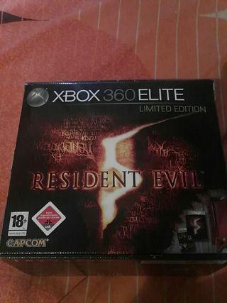 caja Xbox 360 Edición Limitada Residente Evil