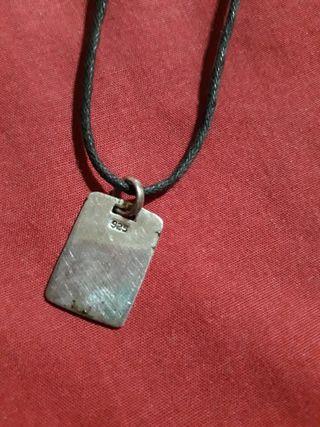 colgante plata 925