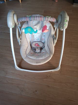 columpio hamaca de bebé eléctrico con música