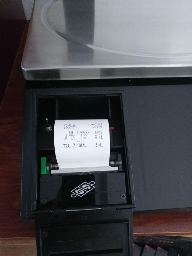 Bascula balanza con ticket