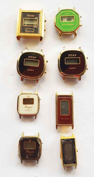 951- Lote 8 relojes digitales, Vintage, C1980
