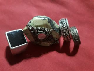 lote 4 antiguos anillos