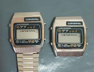 962-Lote 2 relojes digitales, Vintage. NOS, C1980