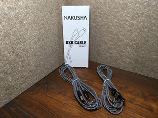 Cables USB a micro USB de 3 m.