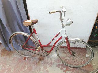 bicicleta paseo años 70