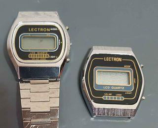 961-Lote 2 relojes digitales, Vintage. NOS, C1980