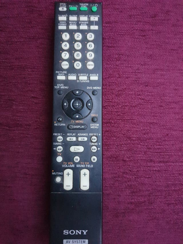 mando a distancia TV Sony