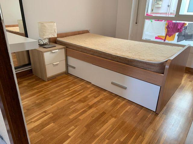 conjunto cama y armario