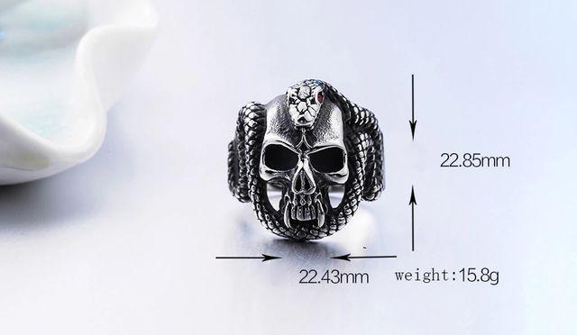 Steel Soldier Retro Style Steel Skull Pank Rin