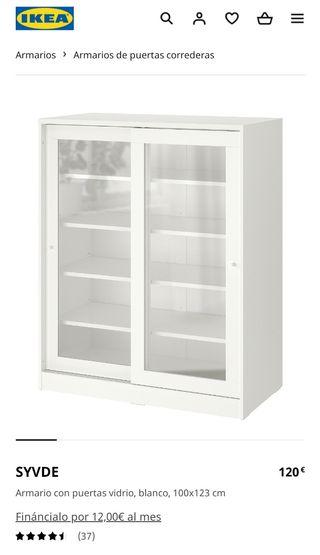 Cómoda puertas correderas vidrio SYVDE IKEA
