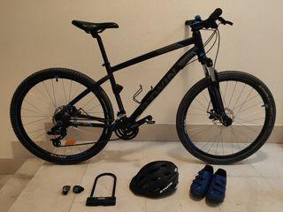 Bicicleta de montaña BTWIN ST 520 + Accesorios