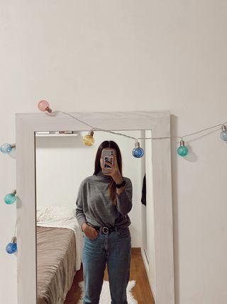 Jersey gris cuello vuelto - Shana