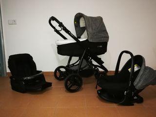 Silla bebé+capazo+Maxi-cosi BebeCar Ip-Op El. 300€