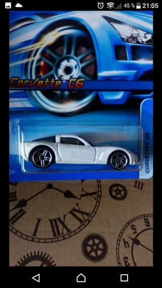 Corvette C6 White/red Hot wheels 2005