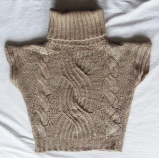 . Benetton . suéter tostado . mohair . t S
