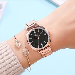 Reloj De Acero Con Diamantes De Imitación Para Muj