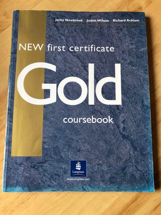 Libro New first certificate Gold Coursebook