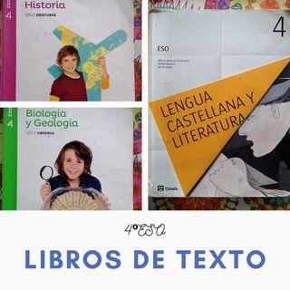 Se venden libros de texto de 4°ESO