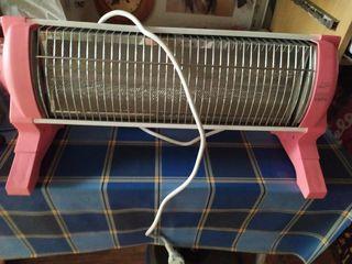 estufa con barra infrarrojos