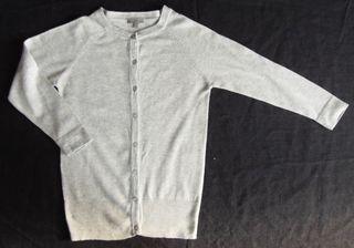 . uterqüe . chaqueta rebeca gris .