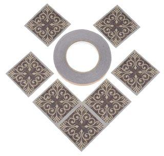 Azulejos Adhesivos Aluminio Para Suelo